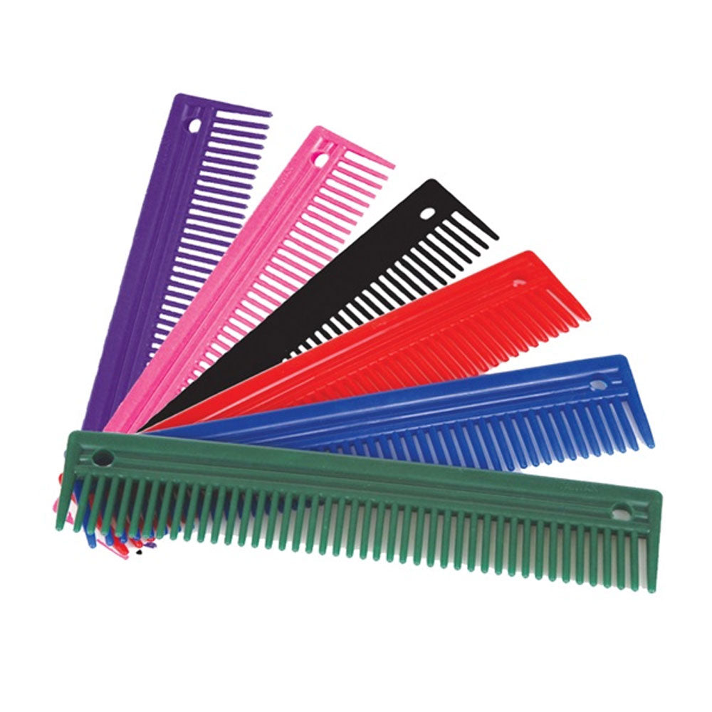 24403 9 Inch Mane & Tail Comb Colorful Plastic