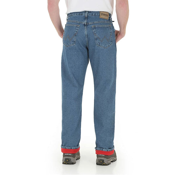 33213SW Wrangler Men's Rugged Wear Thermal Jeans Relaxed Fit Lined