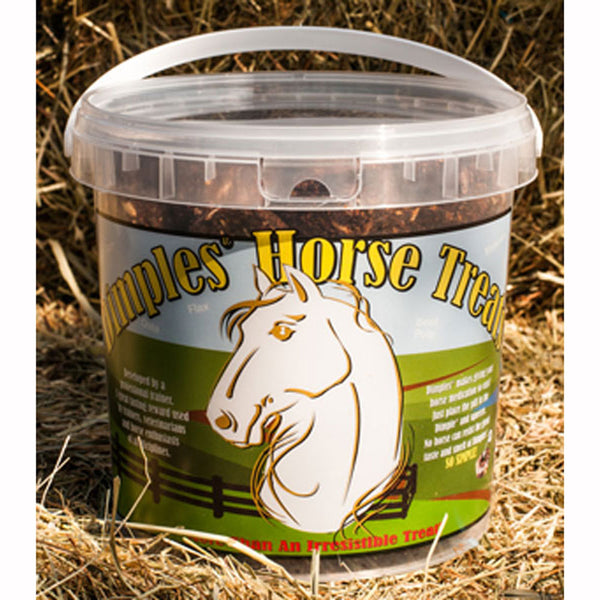 Dimples Horse Treats with Pill Pocket 3 LB. Tub