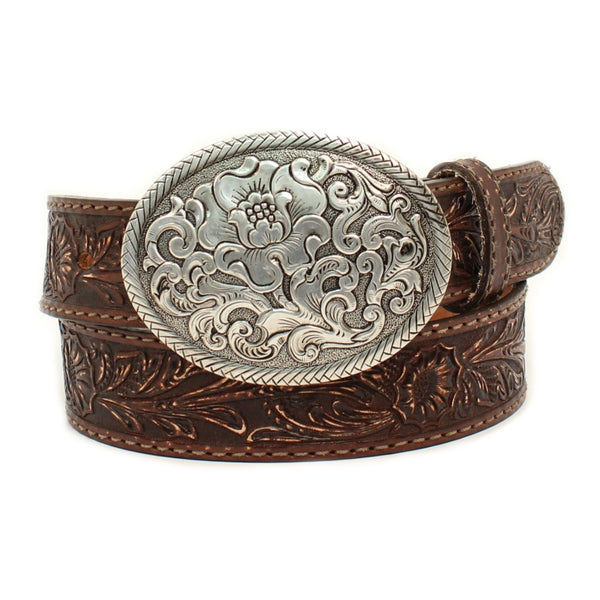 N3300002 Nocona Ladies Tooled Leather Belt With Buckle