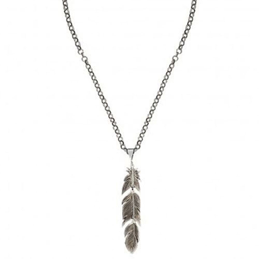 NC1618RTS Montana Silversmith Antiqued Silver Plume Feather Necklace