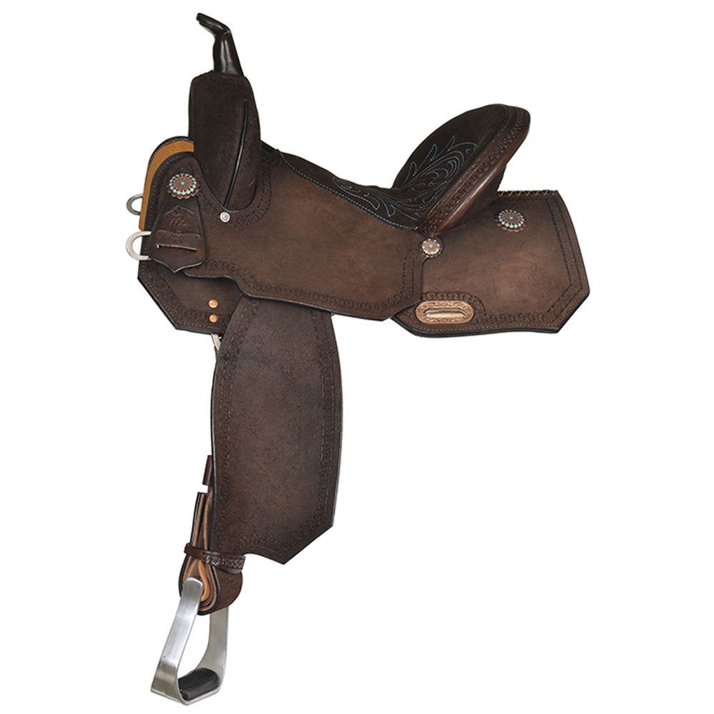 6228-750C-05 High Horse Lindale Barrel Saddle 15 Inch Seat Wide Tree Chocolate