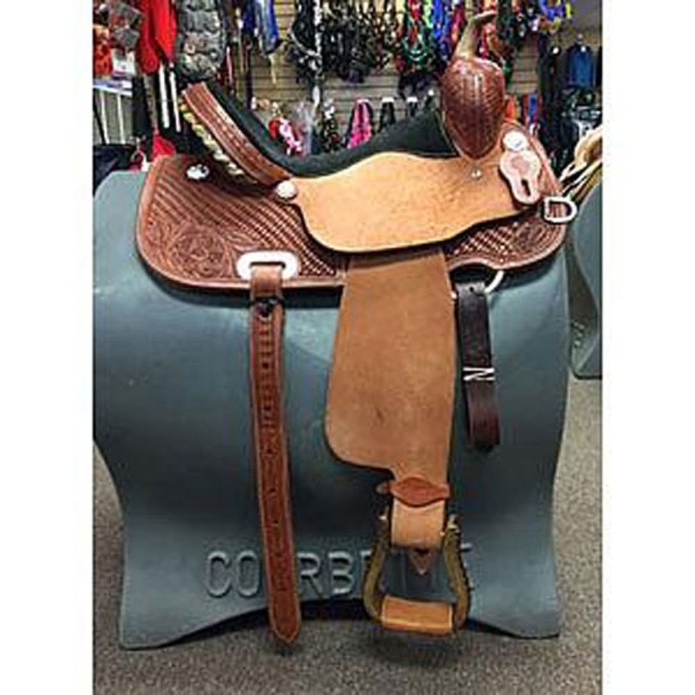 SAGBRL150 Saguaro Barrel Saddle Cactus Saddlery 15 inch Seat Wide Tree