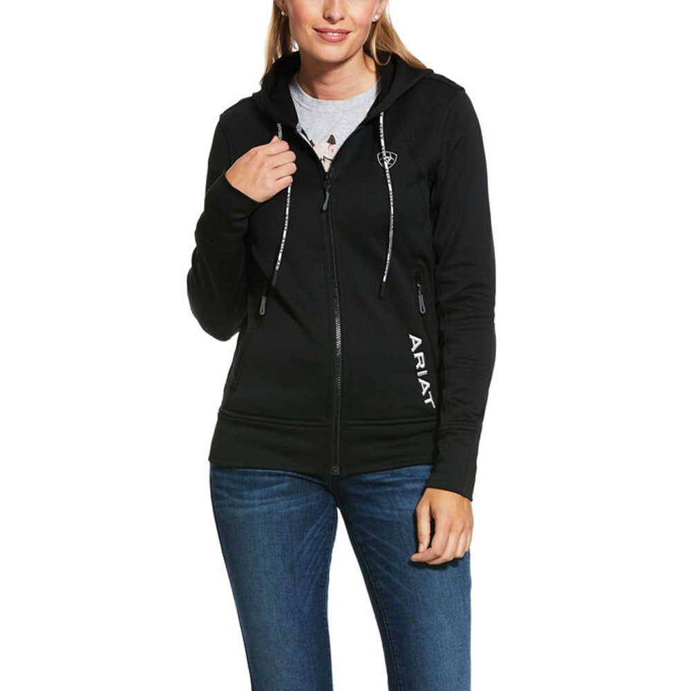 10030532 Ariat Women's Keats Full Zip Hoodie Black