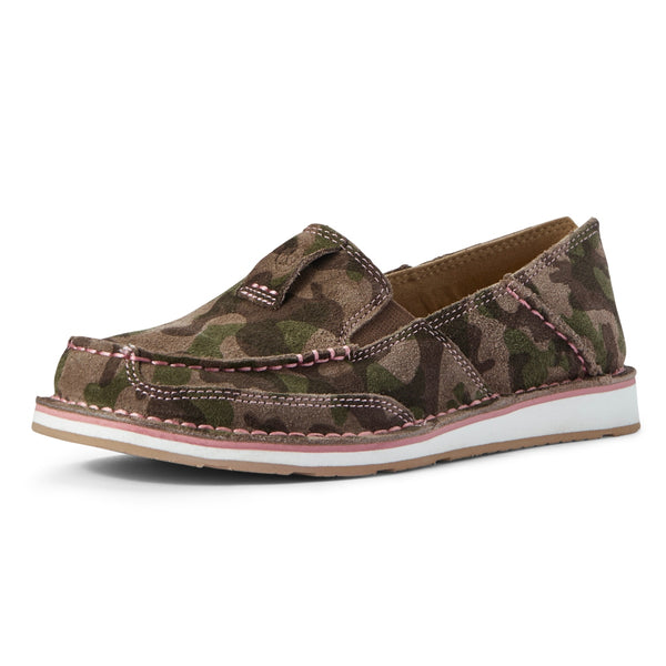 10031610 Ariat Women's Camouflage Suede Slip On Cruiser Shoe