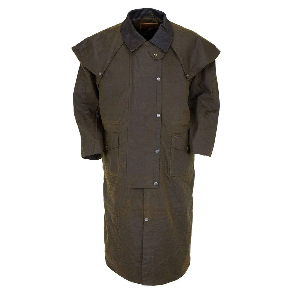2056 Outback Stockman Duster Long Oilskin Coat