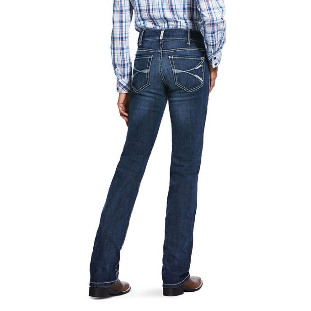 10032031 Ariat Women's R.E.A.L. Mid Rise Arrow Fit Stretch Lucia Straight Jean