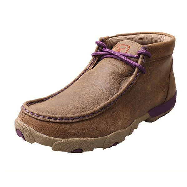 WDM0015 Twisted X Ladies Driving Mocs with Purple Accents