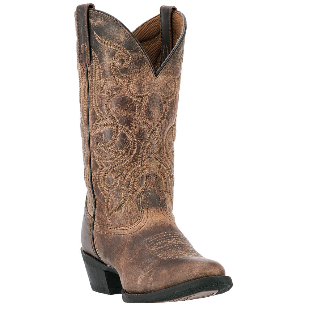 51112 Laredo Women's Maddie Tan Leather Western Cowboy Boot