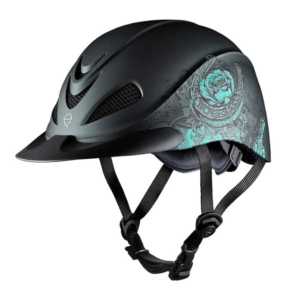 04-275 Troxel Rebel Riding Helmet - Turquoise Rose