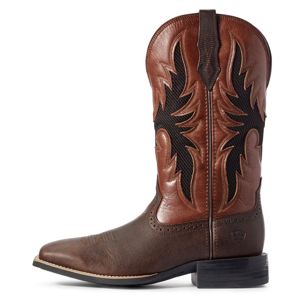 10031448 Ariat Men's Sport Breezy VentTEK Western Boot - Barley Brown
