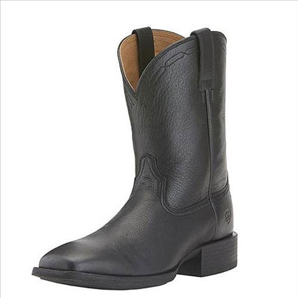 10015291 Ariat Men's Heritage Roper West Western Cowboy Boots - Black