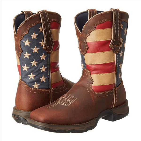 RD4414 Durango Ladies Rebel Patriotic Pull On Western Cowboy Boot