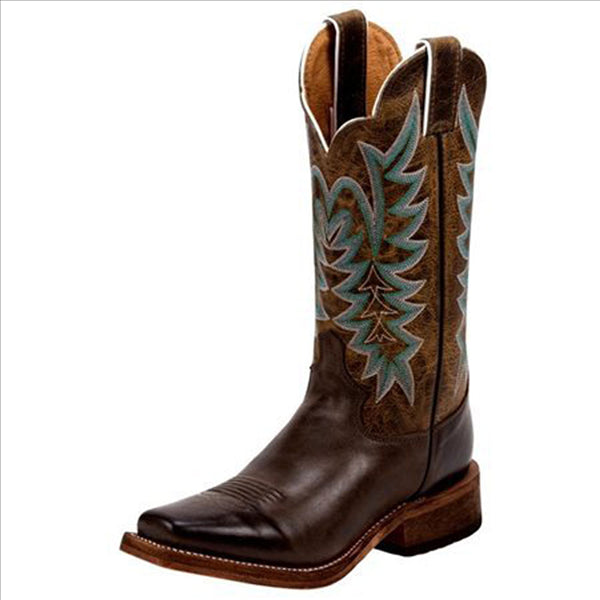 BRL610 Justin Ladies Chocolate America Bent Rail Western Cowboy Boots
