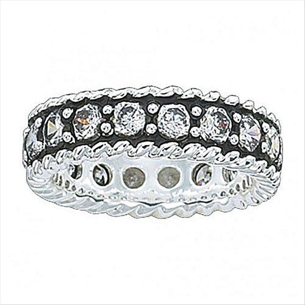 RG10CZ Crystal Shine Band Ring Montana Silversmiths