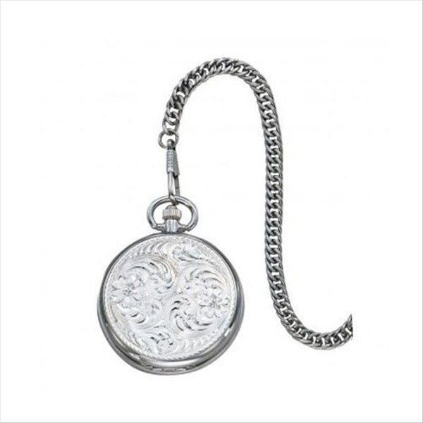 WCHP39 Montana Silversmith Engraved Silver Pocket Watch