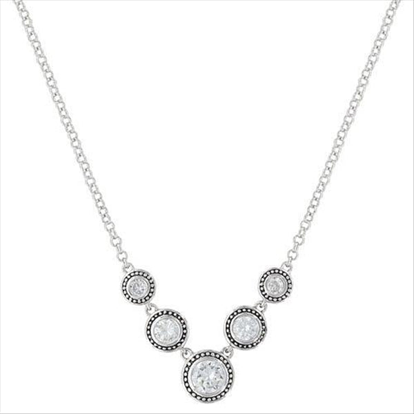 NC3039CZ Star Lights Dewdrop Necklace Montana Silversmiths