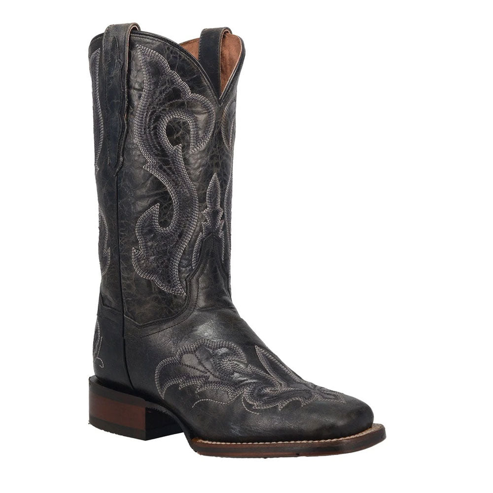 DP4880 Dan Post Women's Everlyn Leather Western Cowboy Boot Black