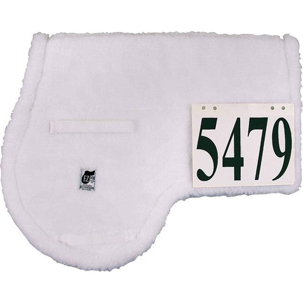 04367 E-Z View Pin On English Saddle Pad White