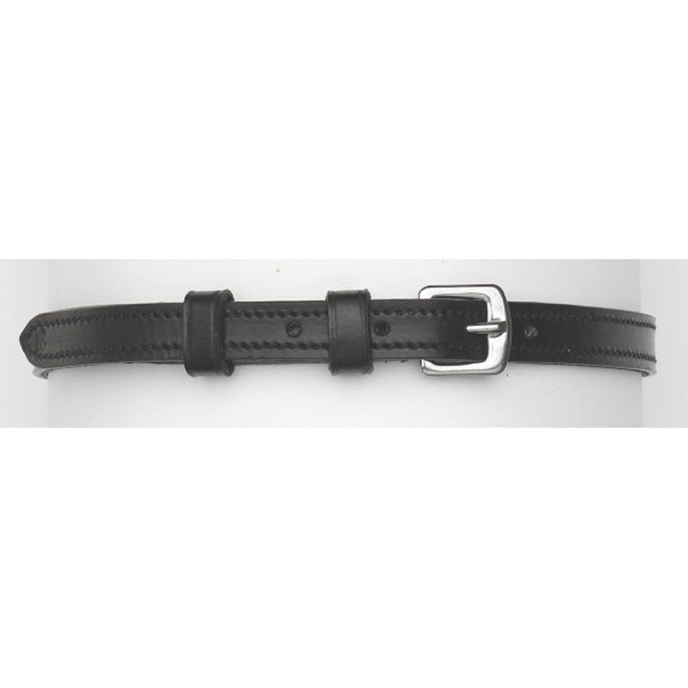 466966 Camelot 3/8 Inch Stitched Spur Straps Black Leather