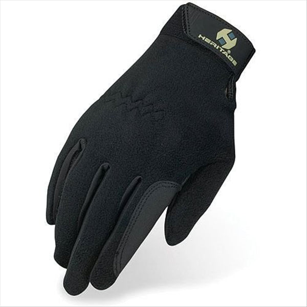 HG295 Heritage Performance Fleece Gloves- Black