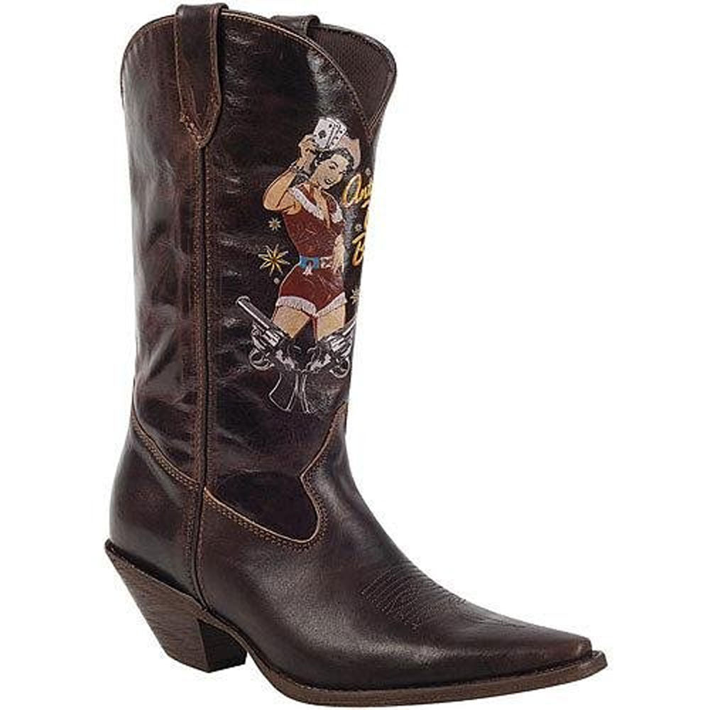 RD011 Durango Ladies 12 Inch PIN UP Cowgirl Boot