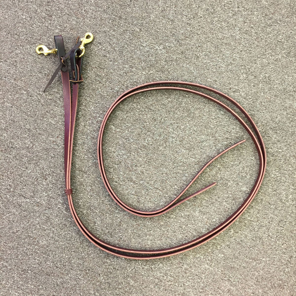 129 Tucker Latigo Reins - Brown with Brass