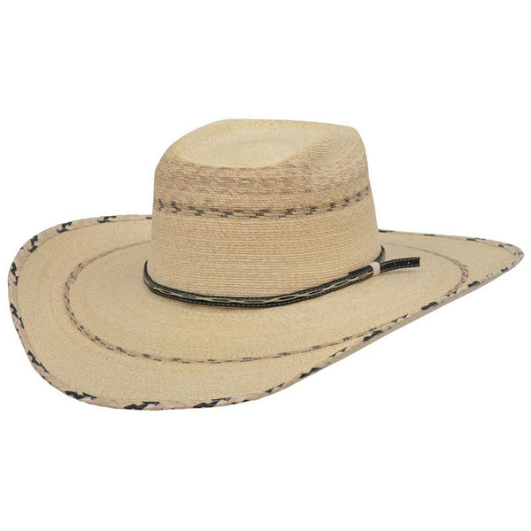 28730 Alamo Stampede Rattlesnake Palm Hat with Rode Crown