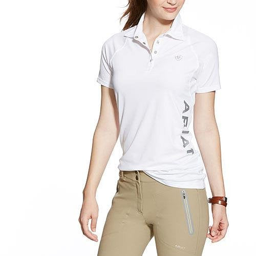 10014748 Ariat Women's Team Cambria Polo - White