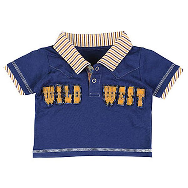 PQK342N All Around Baby by Wrangler WILD WEST Navy Polo Shirt