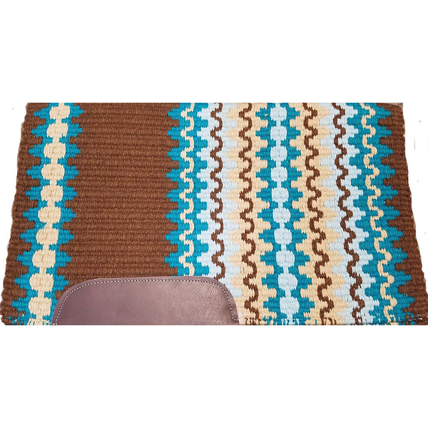 1450C-CTAS Mayatex Corona Custom Saddle Pad - Chocolate, Teal, Aqua, Sand
