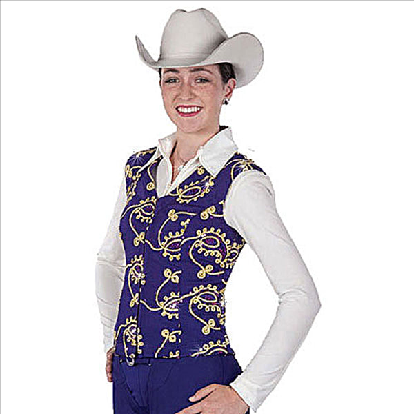 2604-10 Hobby Horse Purple Lariat Vest - Limited Edition