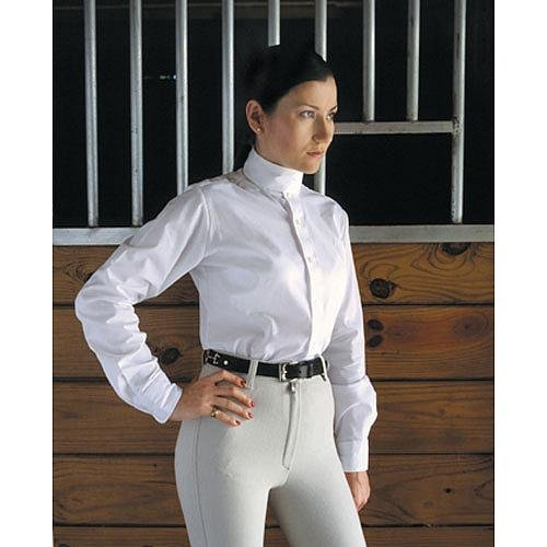 3100 Devon Aire Ladies Long Sleeve Nouvelle Stretch Show Shirt