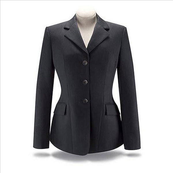 D8727 Black Stripe with Lurex Stretch Hunt Coat RJ Classics Diamond Collection