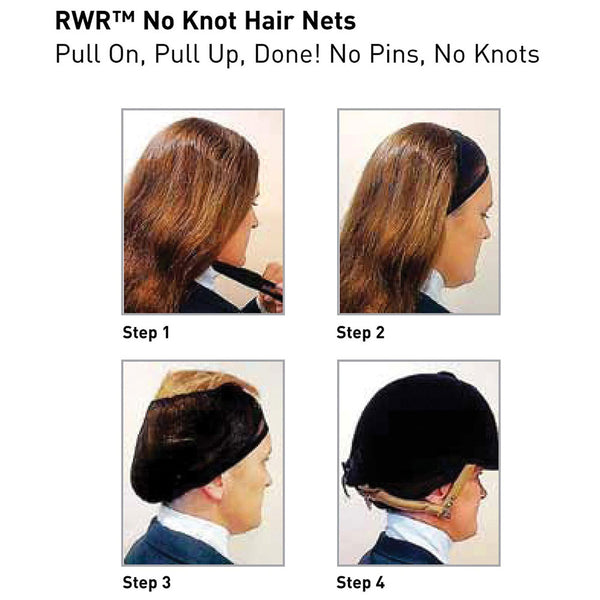 467991 RWR No Knot Hair Nets Several Colors