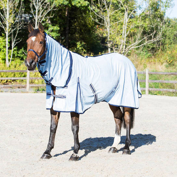 24830 Horze Freja Fly Combo Blanket with Neck - Light Blue