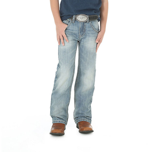 BRB47CN Rock 47 by Wrangler Boy's Boot Cut Jean - Country