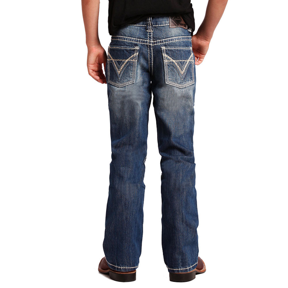 BB-9576  Rock & Roll Cowboy Boy's BB Gun Boot Cut Denim Jeans