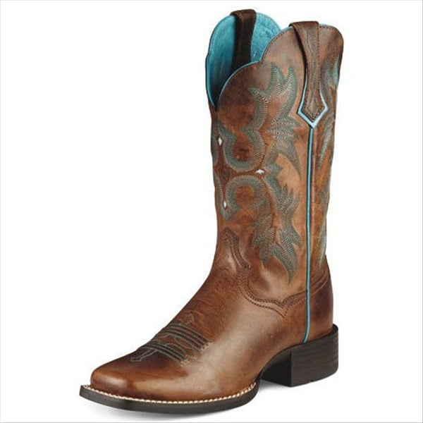 10008017 Ariat Women's Tombstone Western Cowboy Boot - Sassy Brown