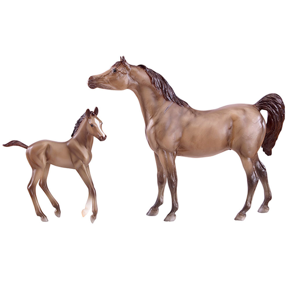 62047 Breyer Gray Arabian Horse & Foal Set