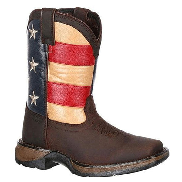DBT0160 Lil' Rebel Durango Big Kids' Flag Western Boot