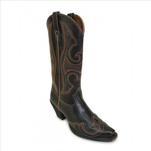 10019925 Ariat Ladies Round Up D Toe Wingtip Western Cowgirl Boot