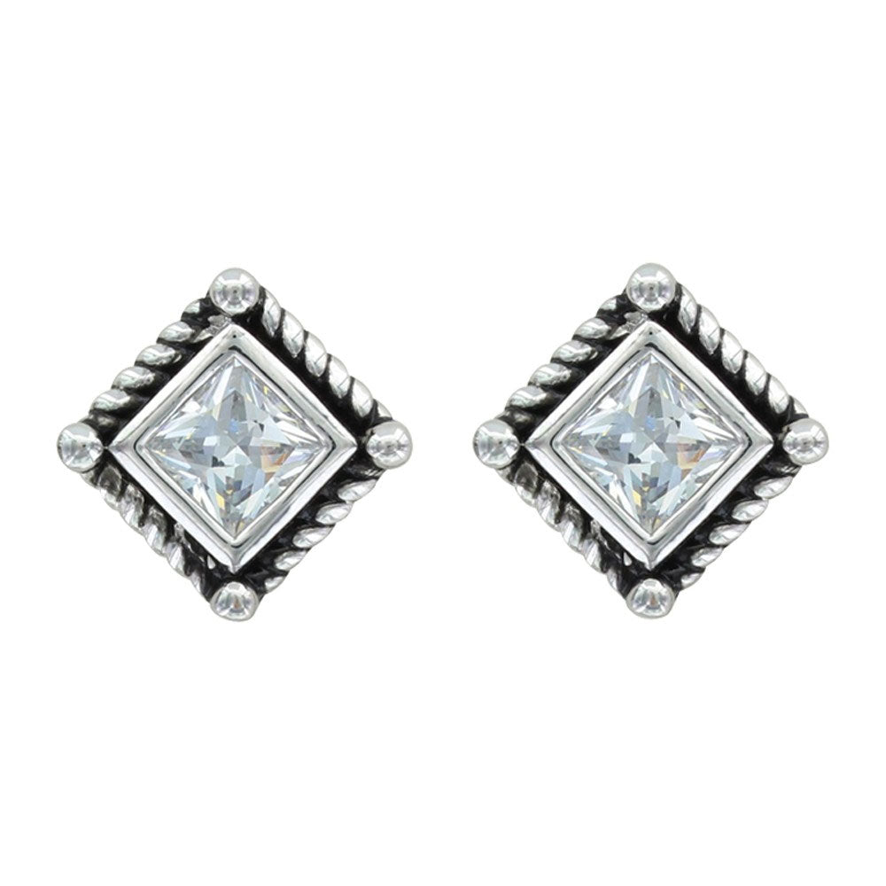 ER3024CZ Montana Silversmiths Roped Star Lights Earrings
