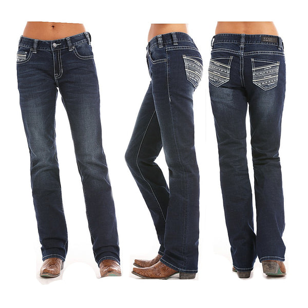 W2-5091 Rock & Roll Cowgirl Juniors Boyfriend Fit Coolmax Jean