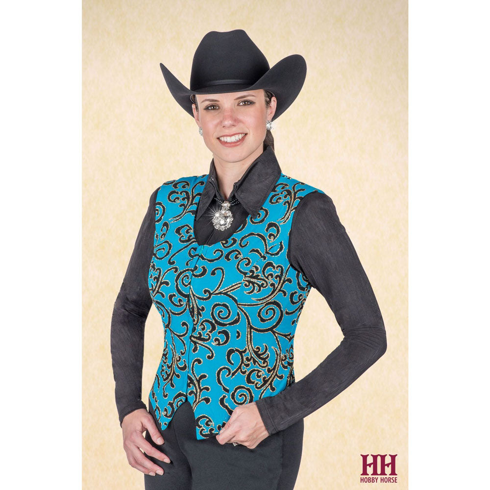 2709-029 Hobby Horse Ladies Ravell Horse Show Vest - Turquoise