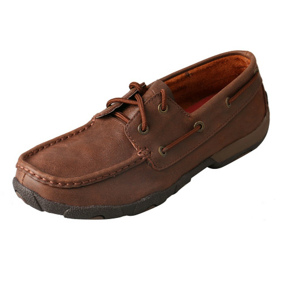WDM0030 Women's Twisted X Mahogany Brown Driving Moc Shoe