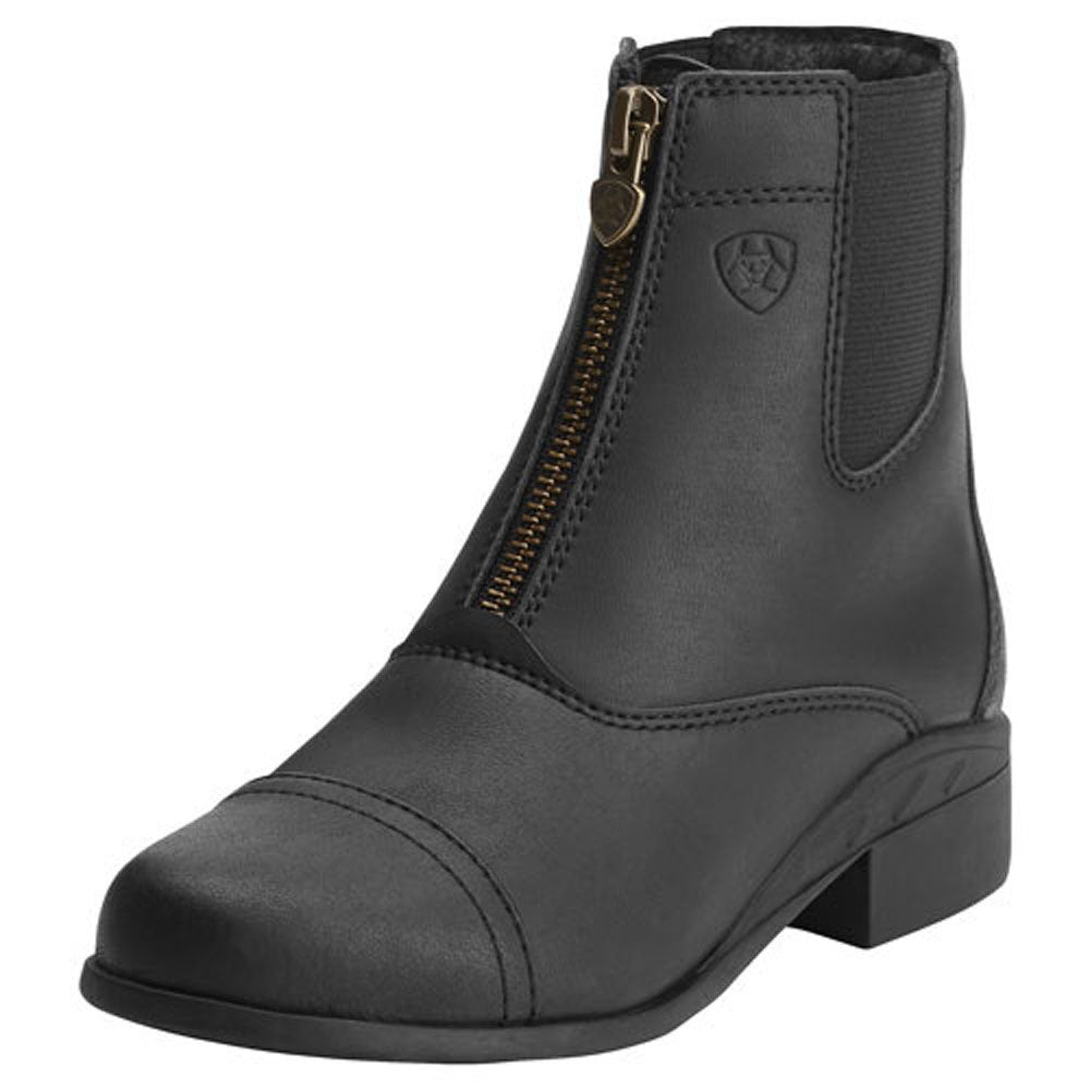 10015198 Ariat Youth Scout Zip Paddock Boots - Black