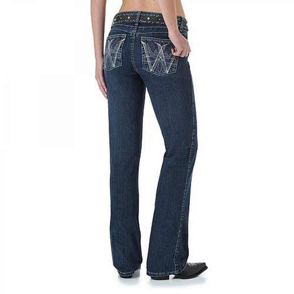 WRQ25WI Wrangler Women's Q-Baby Ultimate Riding Jean Booty Up Technology - Wild Streak