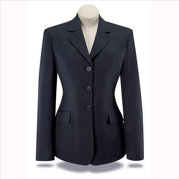D8116 Ladies R.J. Classics Devon Show Coat Washable Navy Herringbone