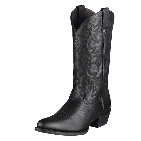 10002218 Ariat Men's Heritage Western R Toe Boot - Black